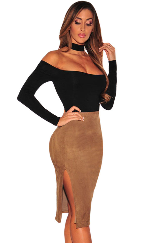 Black-Choker-Off-Shoulder-Bodysuit-LC32066-2-2