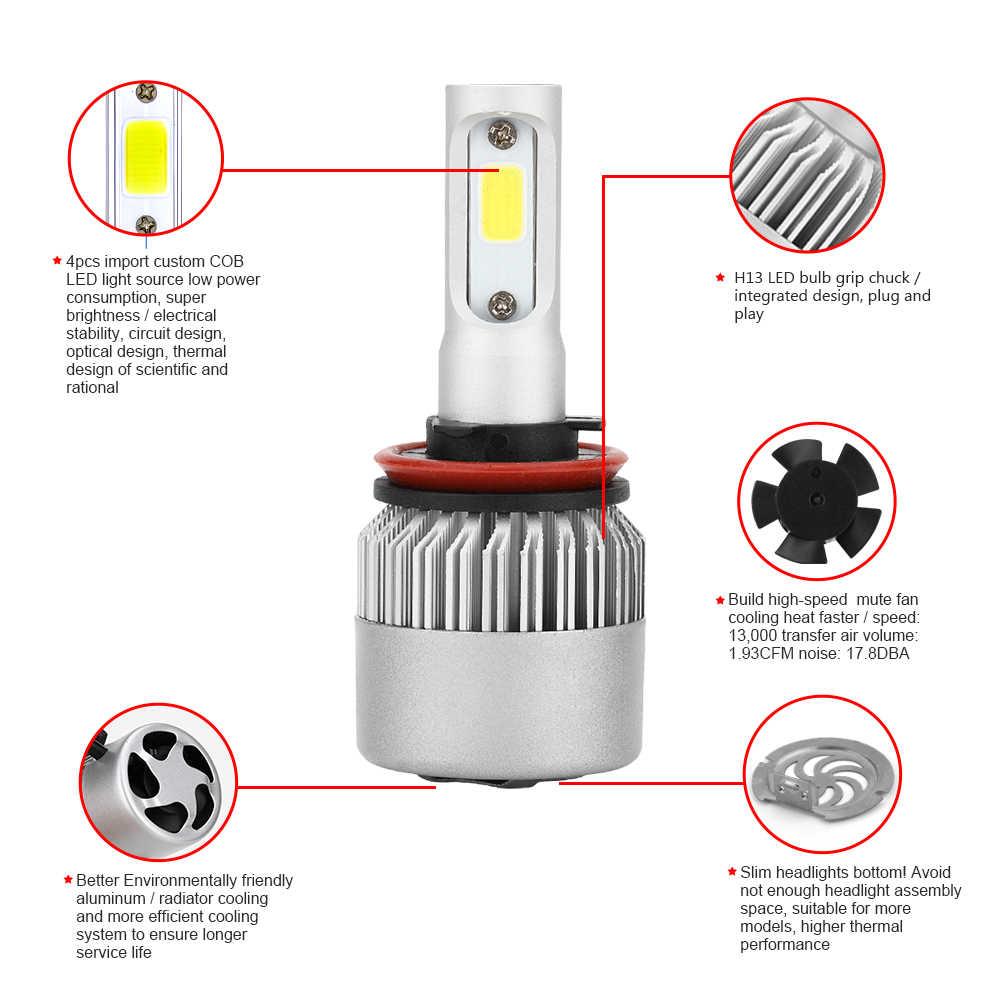Car Light S2 H4 H7 H1 LED Headlight Bulbs H11 H13 12V 9005 9006 H3 HB4 72W 8000LM Car LED lamp Fog Light 4300k 6500K DC12v 24v
