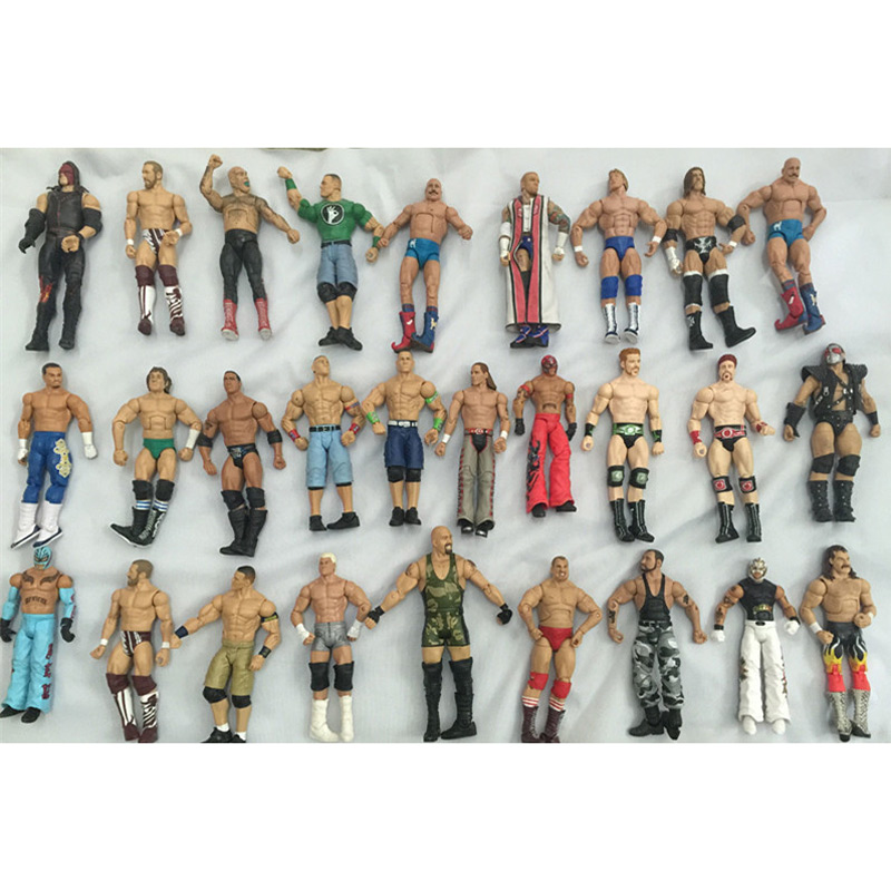 Wrestler Figure Movable-Joint Occupation 16-18cm 1PCS Send Random-Different-Characters