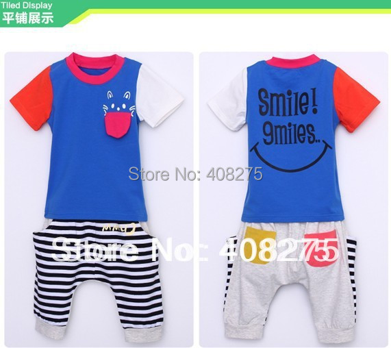 b7c3ca0f9 2015 Newest Baby summer clothes set Boys girls clothing Retail Child sport  suits (short sleeved t shirt +striped pants) sets-in Clothing Sets from  Mother ...