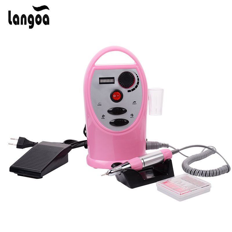 30000RPM Electric Nail Drill Machine Nail Art Equipment Manicure Kit Nail Drill File Bit Sanding Bands Accessory Nail Art Tools apparatus for manicure nail art drill machine for manicure kit drill file bit sanding accessory 9 heads pedicure machine