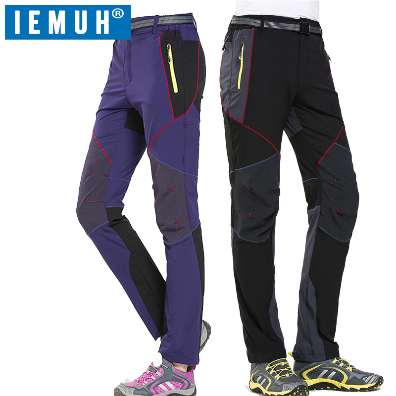 IEMUH Brand Outdoor Sport Men Women Hiking Pants Waterproof Quick-drying Breathable Fishing Climbing Pants Unisex Trekking Pants nylon breathable removable waterproof hiking pants women men quick dry trousers outdoor trekking climbing pants shorts aw003