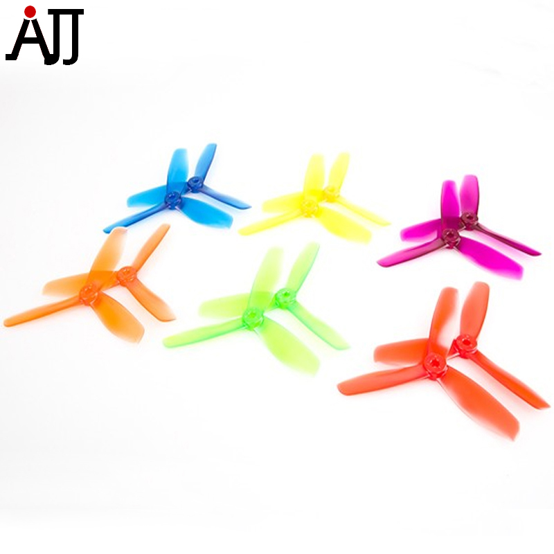 18pairs BeeRotor 5x4.5'' 5045 3-blades Propellers Mixed Color Clear Prop Rainbow Bag for DIY Mini FPV Drone Quadcopter BR5045-MC for yuneec typhoon h 480 drone a self locking propellers blades 3 pcs black