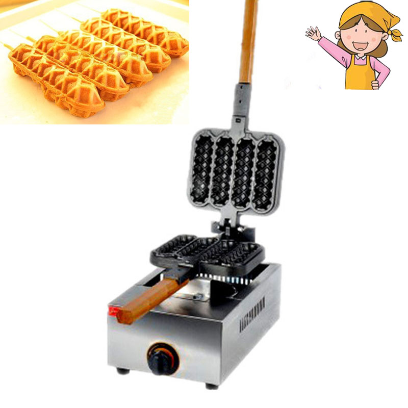 1pc Electric Hot Dog Shape Waffle Maker Cake Maker Snack Baking Machine Gas Crisp Machine FY-114R hot sale 16pcs gas bean cake machine