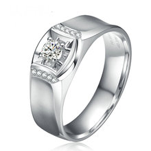 18K font b Gold b font Diamond Ring for Men Fine Jewelry Wedding Engagement Bands SI