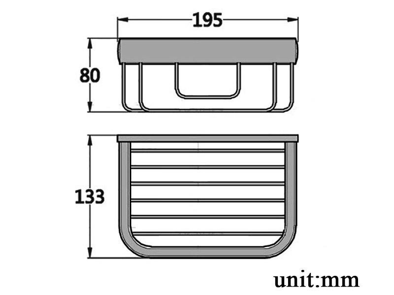 paper basket chrome size