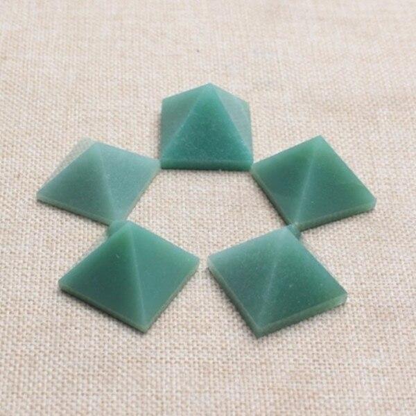 3PCS Crystal natural east mausoleum jade pyramid