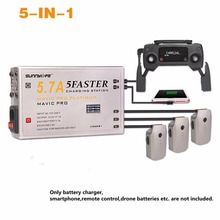 5-IN-1 5.7A Large Current Battery Charger Controller Smartphone Tablet Charging Hub with OLED Display for DJI Mavic Pro/Platinum