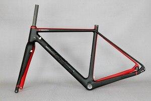 Image 5 - 2020 Available Gravel 700C Carbon Bike Frame,SERAPH bikes Thru Axle 142mm Gravel Di2 Carbon Cyclocross Frame Disc GR029
