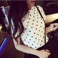 2017 summer women polka dot blouses blusas mujer korean clothing blusa social feminina camisa blouse chemise femme shirts