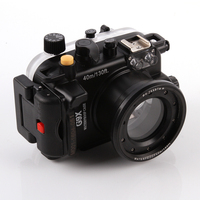 40m/130ft Waterproof Diving Underwater DSLR Camera Housing Case For Canon G9X