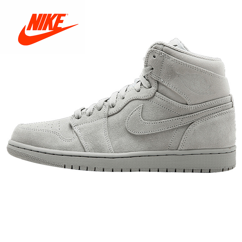 online store a7a64 72a65 Original New Arrival Authentic NIKE AIR JORDAN 1 RETRO HIGH SUEDE AJ1 Suede  Cool Gray Mens Basketball Shoes Sneakers Outdoor