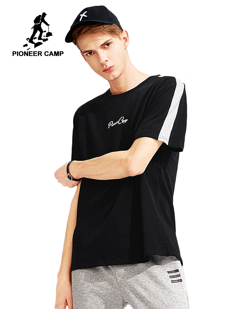 7131fb290b85 Pioneer Camp new design hit color summer T shirt men brand high quality  100% cotton T-shirt male casual Tshirt for men ADT801014
