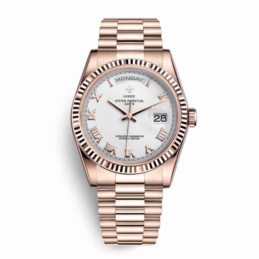 メンズ腕時計トップブランドの高級日日付クォーツ時計男性防水カジュアルファッション腕時計役割ウォッチ 2019 new リロイ hombre