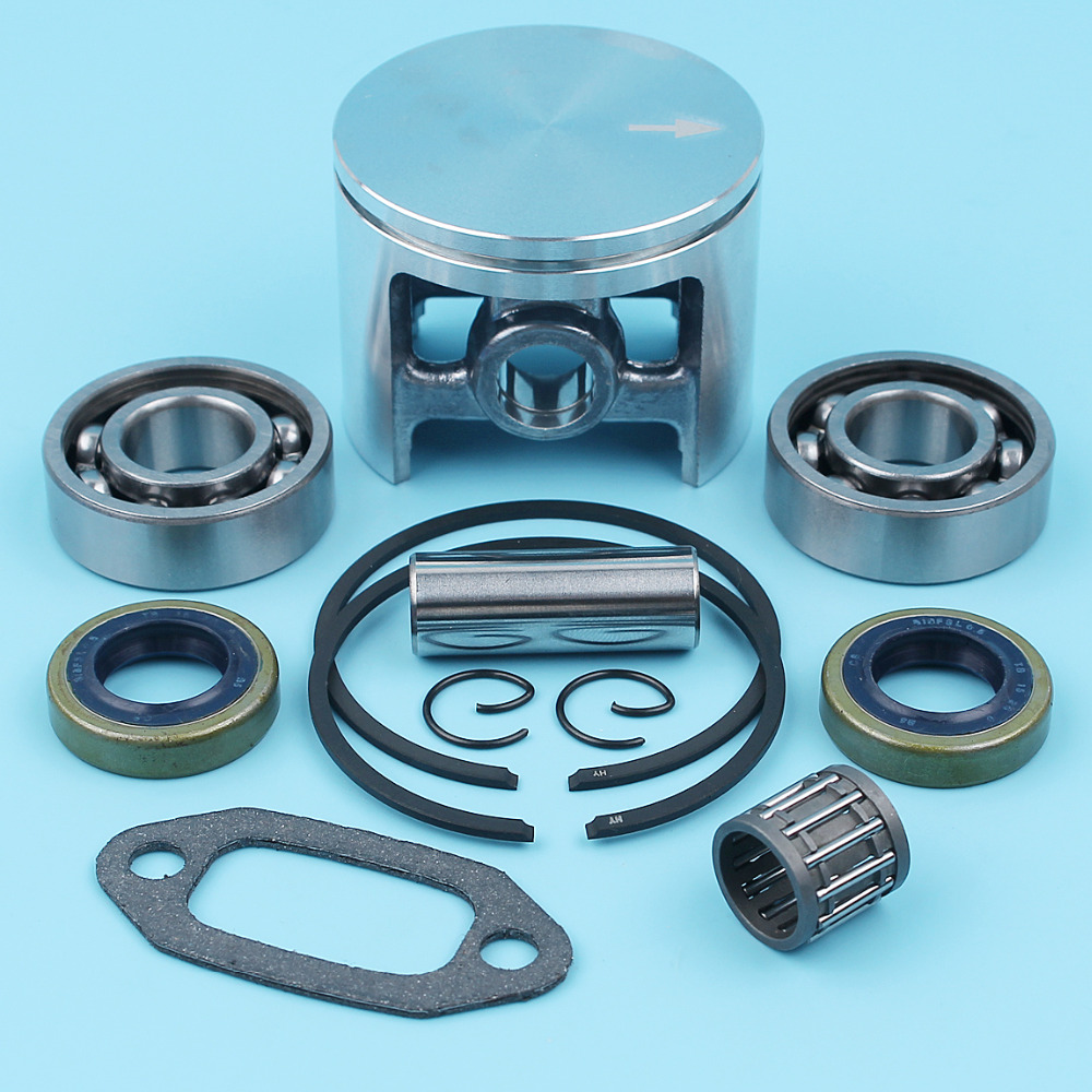 52mm Crankshaft Bearing Piston Kit For Jonsered 670 630 625 Super II Champ Big Bore Cylinder Chainsaw Oil Seal Needle Cage Spare