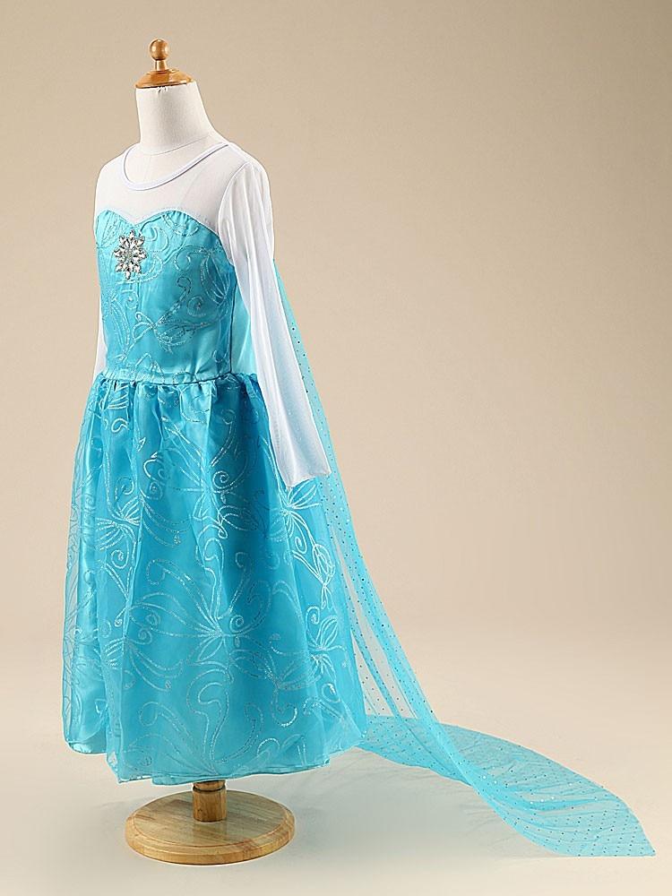 HTB1G4B8XQSWBuNjSszdq6zeSpXaM Girls Elsa Dress Costume Princess Anna Dresses Cosplay Party Summer Baby Kids Children Fancy Baby Girl Clothes elza vestidos
