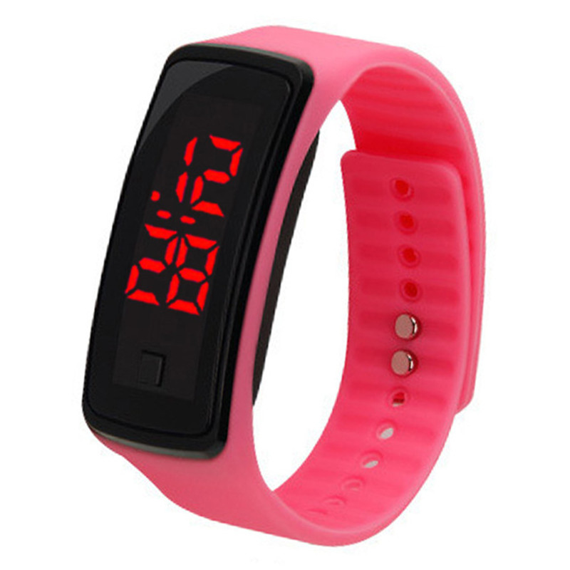 New Soft Silicone Strap Watch Fashion Outdoor Men's Watch Women LED Digital Watch Dress Sports Watch Kids For Student Clock