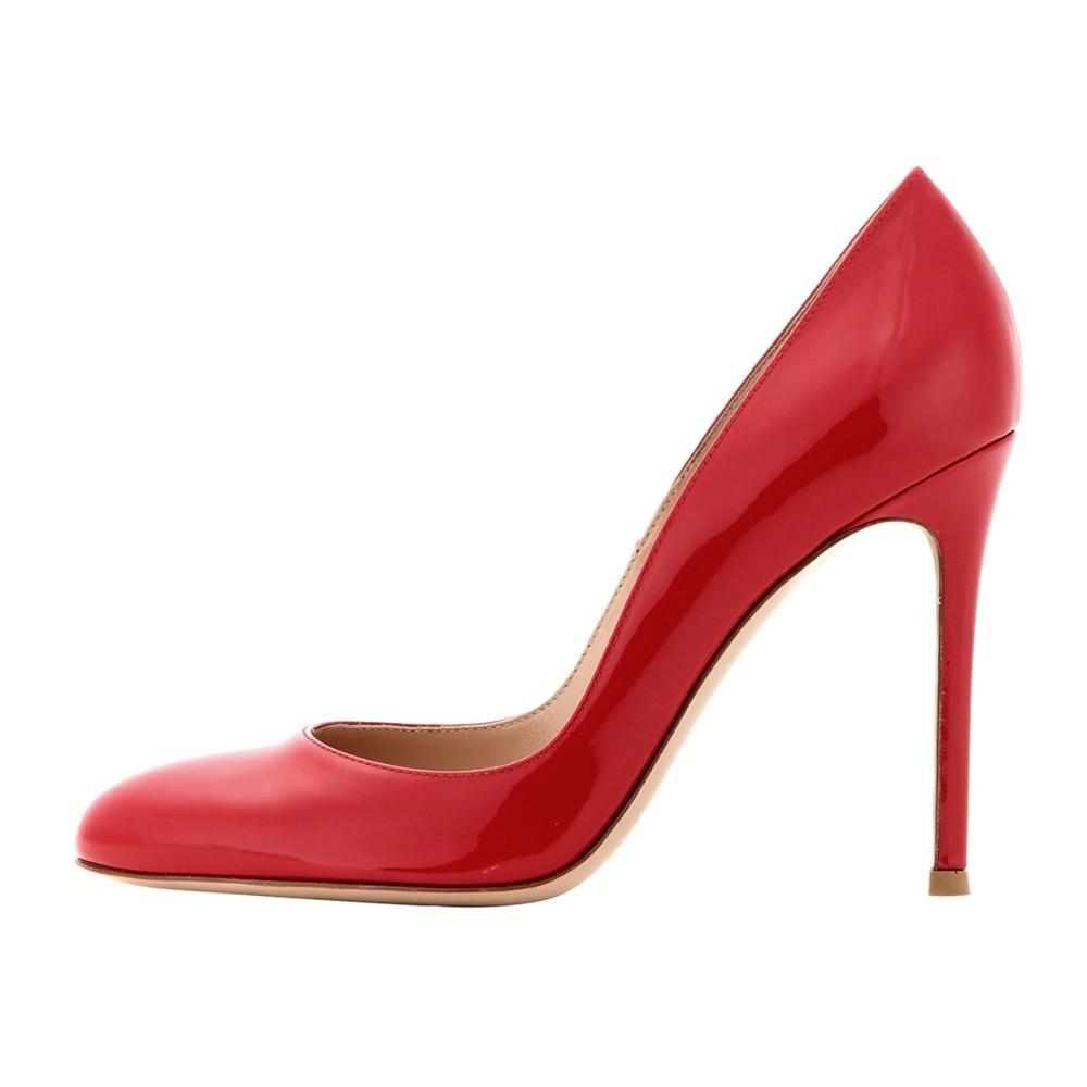 Chaussures Rouge Grande Printemps Automne Aiyoway Dames Hauts Slip Travail Parti Black Femmes Sexy red Et 17 Pompes sur Robe Noir Talons 5 À Taille Rond Bout ilOPkXZwTu