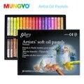 Mungyo 12/24/36 cores pastel de óleo macio profissional seco alta qualidade cor pesada para desenho artigos de papelaria arte suprimentos cera