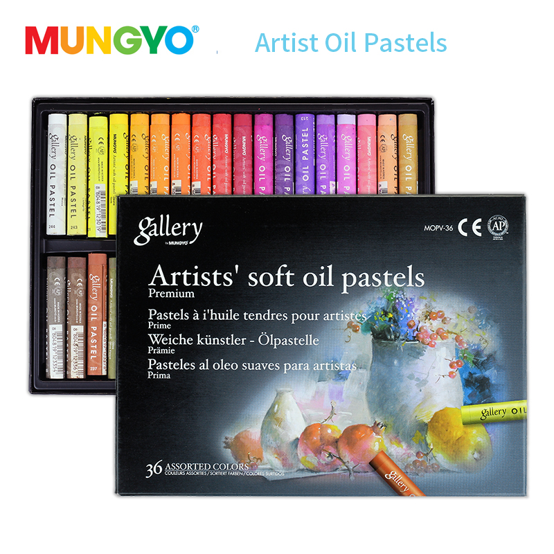 Mungyo 12/24/36 Colors Professional Soft Oil Pastel Dry High Quality Heavy Color Crayons For Drawing Stationery Art Supplies Wax