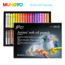 лучшая цена Mungyo 12/24/36 Colors Professional Soft Oil Pastel Dry High Quality Heavy Color Crayons For Drawing Stationery Art Supplies Wax