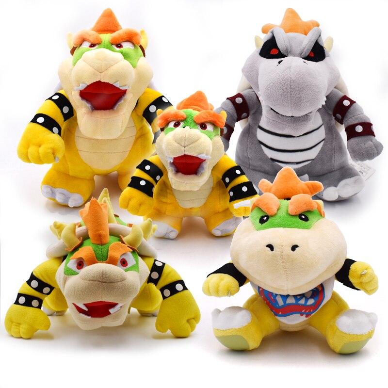 "5Styles/lot 6.7-10"" Koopa Super Mario plush 3D Land Bone Kubah Bowser Dragon Plush Toy Bolster Peluche Stuffed Dolls Dry Bones 1"