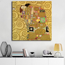 Klimtes Kiss Minimalist Art Canvas Poster Oil Print Wall HD Picture Modern Home Room Decoration Painting