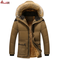 UNCO&BOROR Winter Jacket Men Coat Outerwear Hood Padded fleece Warm Male Jackets Parka Hooded Casual overcoat size M~4XL 5XL