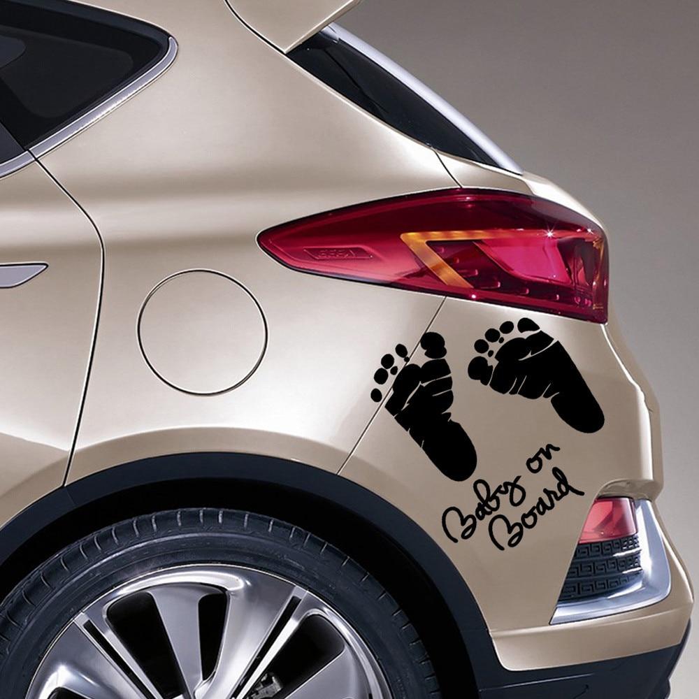 New car sticker design - 2016 New 1pc Baby In Car Sticker Vinyl Decal Car Latop Window Wall Bumper Decor Pvc