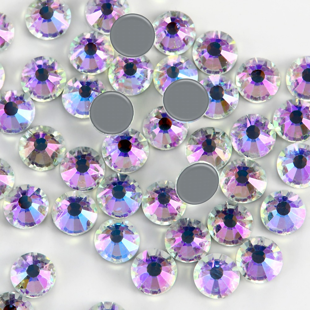 New SMC Cut Moon Stone Iron on Rhinestone ss16 ss20 ss30 Hotfix Rhinestones AAAAA Grade for Luxury DIY things