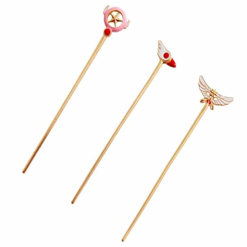 Сейлор Мун card captor cardcaptor sakura шпилька аксессуары Аниме звезда птицы головы крылья металлические шпильки заколка для волос A767