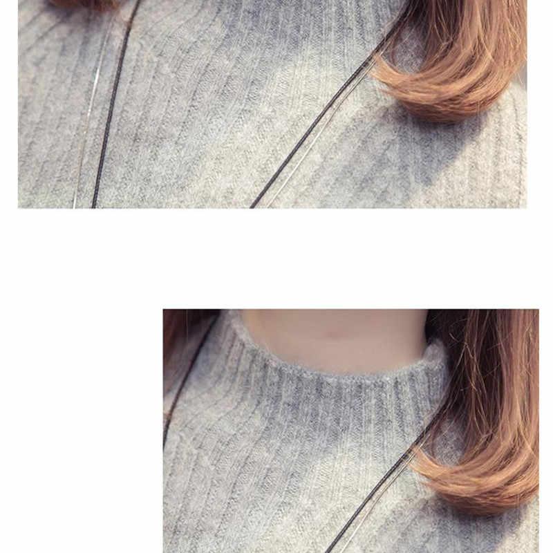 IOQRCJV Свитер с воротником платье 2018 Для женщин Мода осень-зима трикотажные пуловеры; свитеры с длинными рукавами джемпер тянуть роковой S184