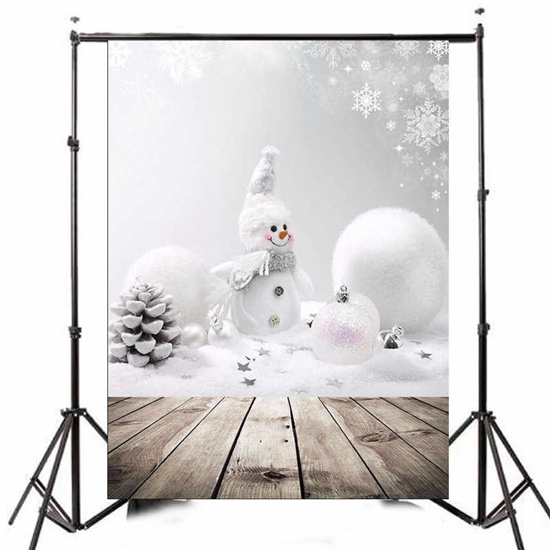 3x5ft Photography Vinyl Background Christmas Snowman Photographic Backdrops For Studio Photo Props 0.9m x 1.5m