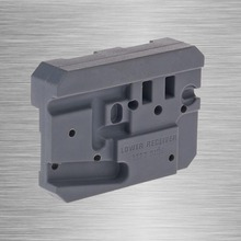 Black Rifle lower receiver Armorer's Bench Block Secures 223 Remington Parts When Installing AR-15 Bench Block