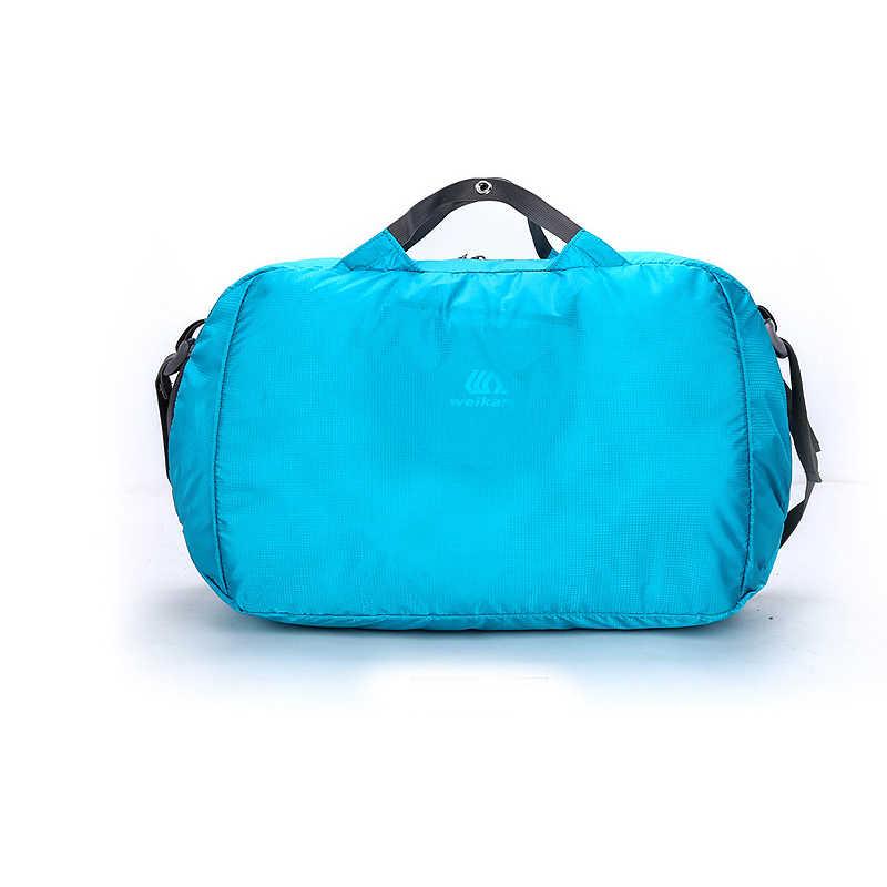خفيفة الوزن النايلون حقيبة ظهر قابلة للطي مقاوم للماء في الهواء الطلق حقيبة الظهر الرياضة للطي حقائب الرجال النساء حقيبة للتنزه في السفر