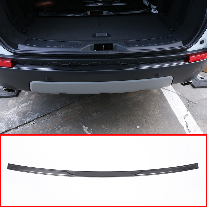 Black Silver Stainless Steel Car Outside Rear Bumper Guard Plate For Land Rover Discovery Sport 2015-2018 Car Accessories black silver stainless steel car outside rear bumper guard plate for land rover discovery sport 2015 2018 car accessories