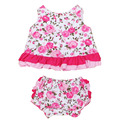 Newborn Baby Dress Set Summer Cotton Flower Girl Clothing Sets Ruffles Sleeveless Dress+PP Shorts+Headband Ropa Para Bebes Ninas