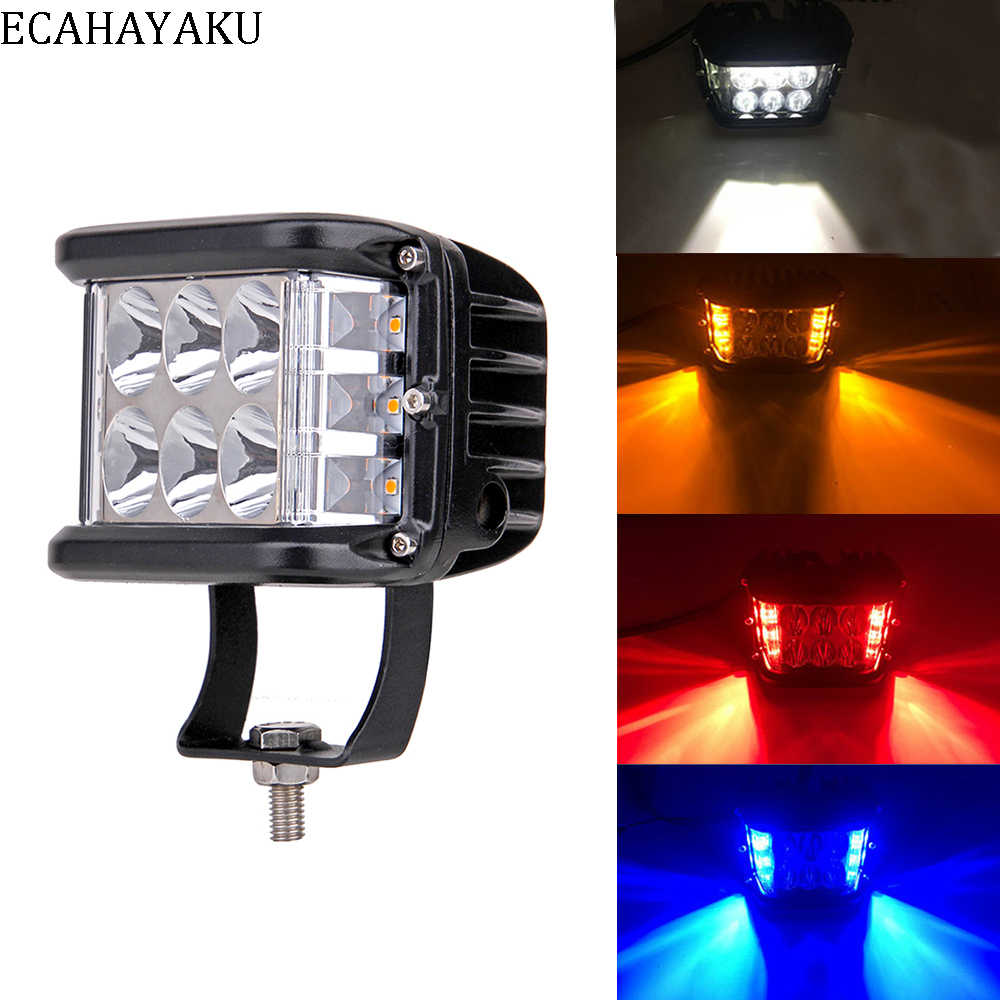 ECAHAYAKU 4 inch 60W LED Work Light 12v 24v Driving Lamp Spot Flood Offroad Led Headlights SUV Truck 4WD ATV PickUp Car Lighting