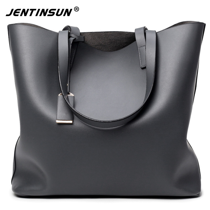 High Quality Leather Women Bag Bucket Shoulder Bags Fashion Ladies Big Handbag Solid Large Capacity Top-handle baobao For Female simply classic fashion leather women handbag shoulder bags ladies large capacity ladies shopping bag bolsa