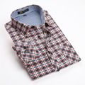 2016 autunm new Men's brand shirts Long sleeve casual plaid Flannel sueded shirts for men Thick warm shirt man big size