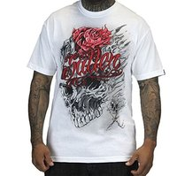 New Design T Shirt Print Men S 100 Cotton Crew Neck Sullen Clothing Skull Melt White