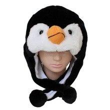 a336734d5d0 Cute Cartoon Plush Animal Penguin Fuzzy Warm Beanie Hat Winter Adult Women  Men s Children Kids Boys