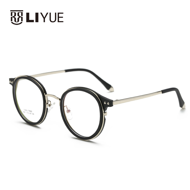 42d5408c0bfc New Korean fashion eyeglasses retro glasses vintage oval TR90 eyewear  frames Prescription frames 2641 student myopia glasses -in Eyewear Frames  from Women's ...