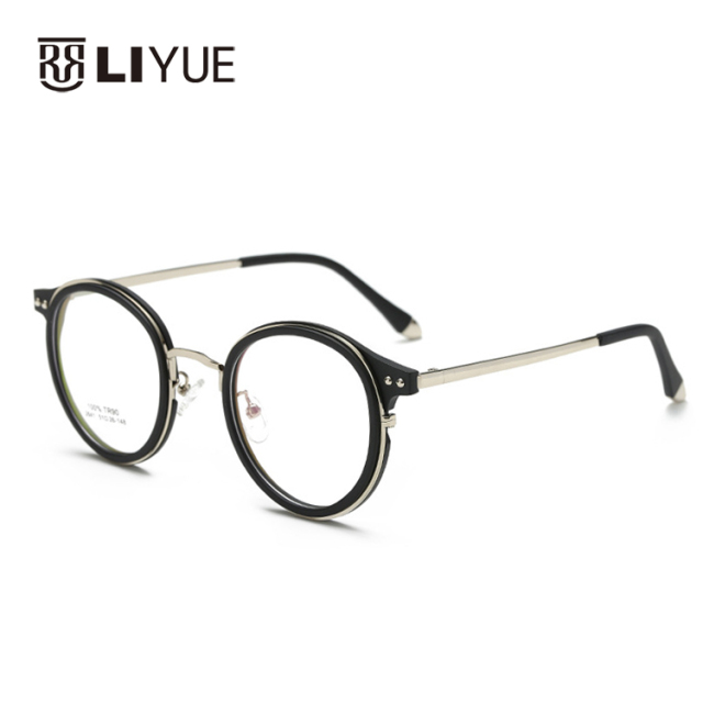 edc04662c6a4 New Korean fashion eyeglasses retro glasses vintage oval TR90 eyewear frames  Prescription frames 2641 student myopia