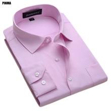Pinma X1007 Весна Большие размеры 6XL мужские классические с длинным рукавом Slim Fit высокое качество работы рубашки рубашка мужская мода социальной случайный- рубашки