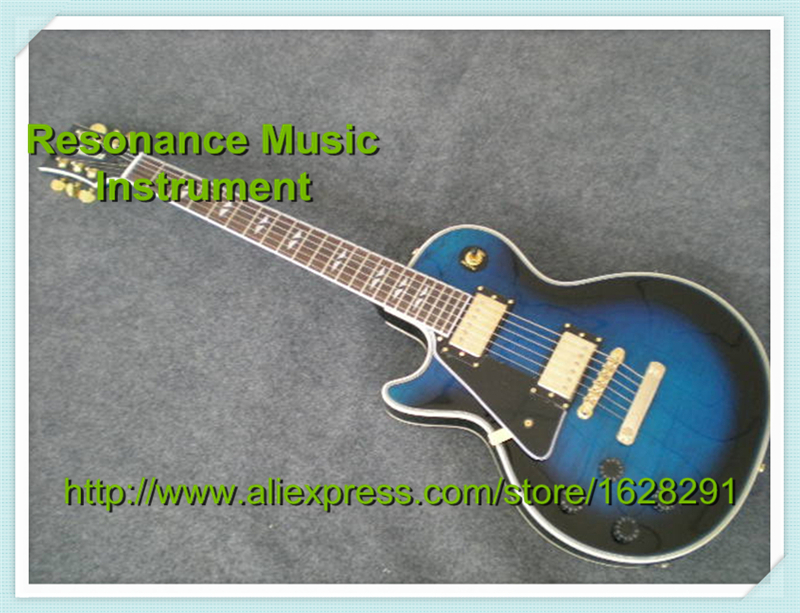 Professional Custom Shop Vintage Blue Left Handed LP Shaped Electric Guitar Rosewood Fretboard China Guitar Factory best price of the white lp standard electric guitar china with bigsby rosewood fretboard guitar free shipping