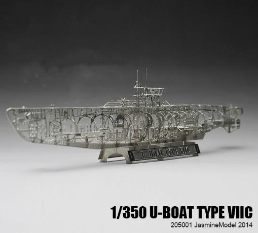 Jasmine Model Metal Model U-shaped Submarine Skeleton Internal Structure Model Adult Children's Toys Model Submarine Hot Scale