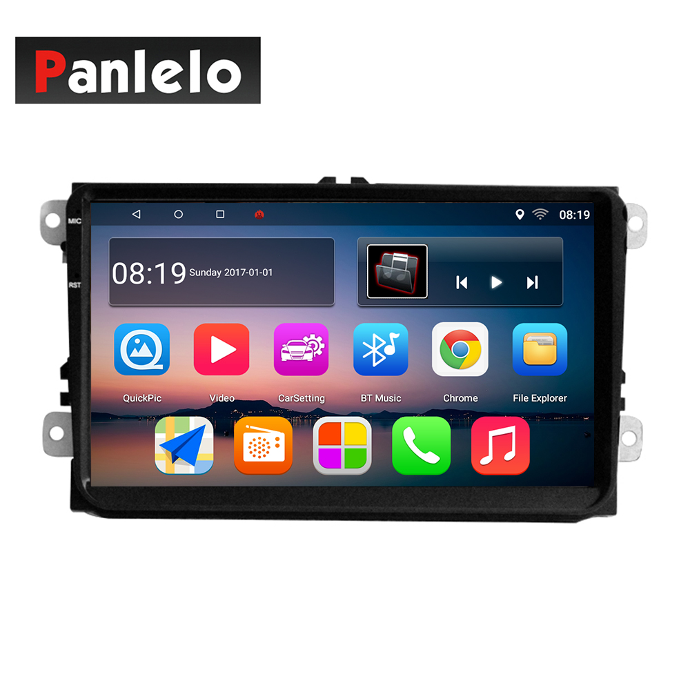 S9 Panlelo 9 Inch For VW Volkswagen Android Car Stereo 2 Din 1GB RAM 16GB ROM Quad Core GPS Navigation Radio SWC Mirror Link Cam s6 2 din car stereo android quad core 7 inch gps navigation auto radio am fm mirror link bluetooth music video 1gb ram 16gbrom