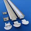 Free shipping 10pcs/lot ,1m long led aluminium profile ,aluminium profile for LED strip 5050 10-12mm pcb ,CC-2207