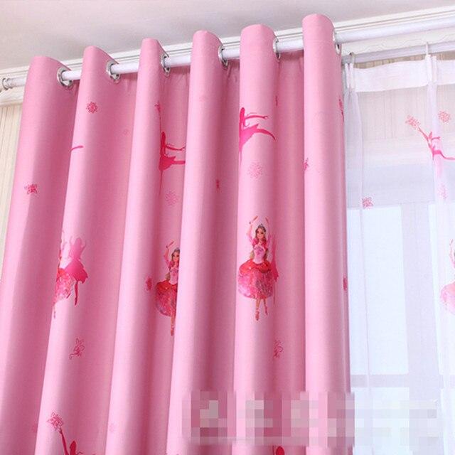 Online Shop custom curtains cartoon child curtain shade cloth pink ...